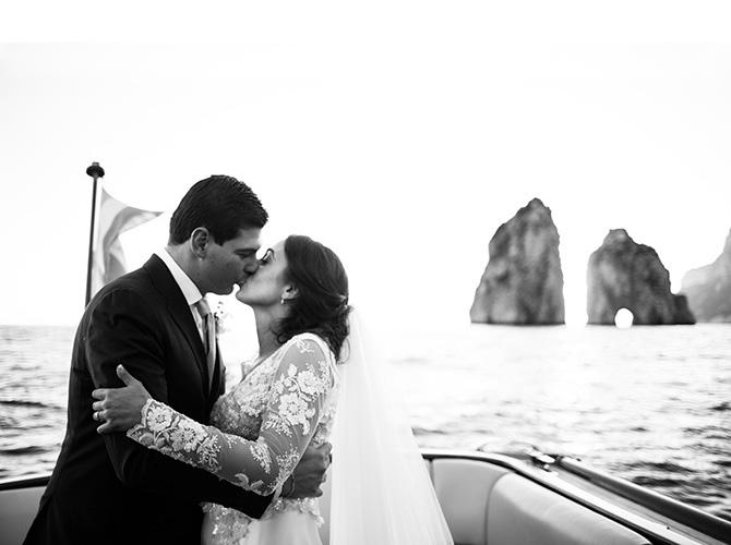 perché fotografare un matrimonio in bianco e nero sposi a capri faraglioni