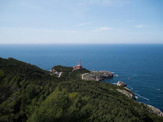 vista del Faro di Punta Carena ad Anacapri