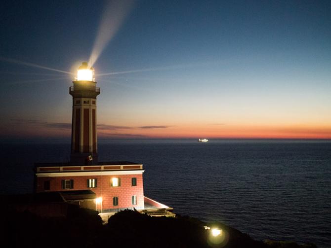 tramonto al Faro di Punta Carena ad Anacapri
